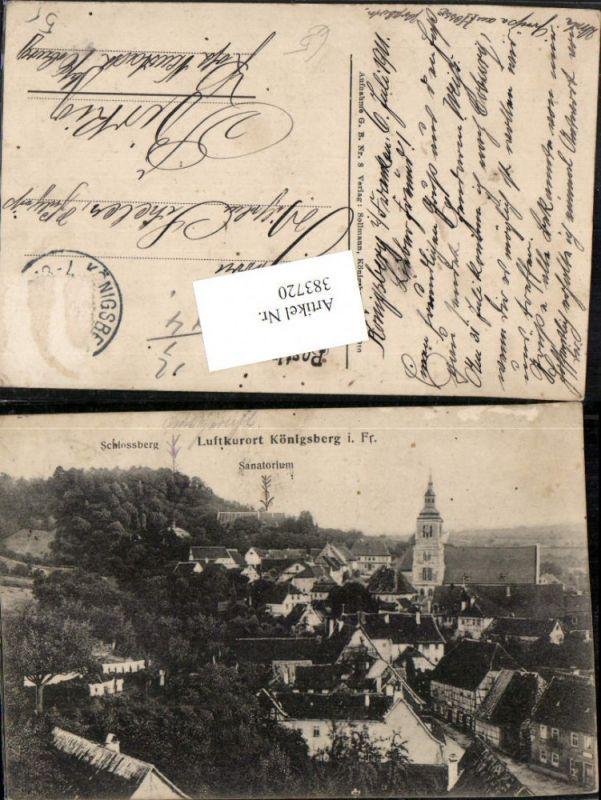 383720,Königsberg in Bayern Totale m. Schlossberg u. Sanatorium
