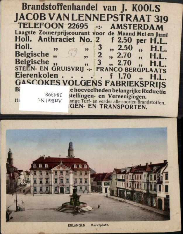 384398.Erlangen Marktplatz Platz Brunnen Rathaus