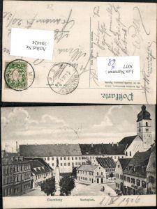 384424.Ebersberg Marktplatz Platz Säule Kirche