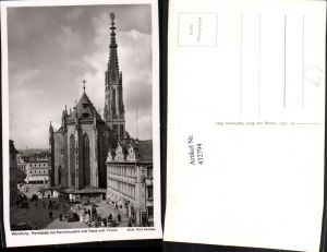 432794,Würzburg Marktplatz Marienkapelle Kirche u. Haus zum Falken