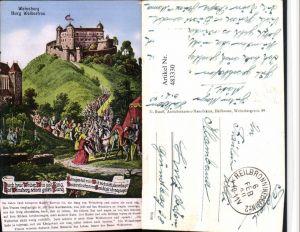 483330,Künstler AK Weinsberg Burg Weibertreu 1140 Spruch Text Feldpost