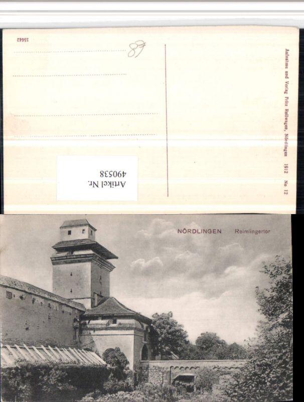490538,Nördlingen Reimlingertor Tor Turm