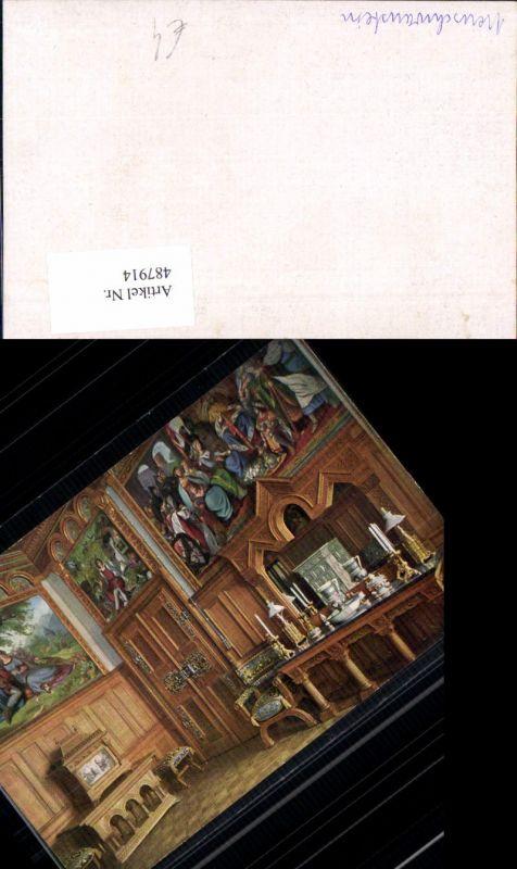 487914,Königsschloss Neuschwanstein Innenansicht Tisch Geschirr Interieur