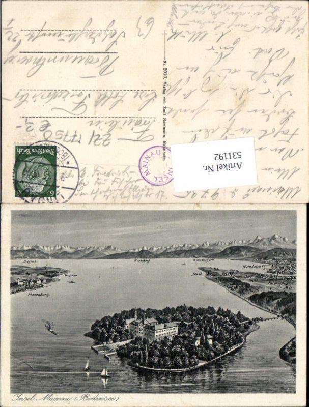 531192,Künstler AK Eugen Felle Insel Mainau im Bodensee Konstanz