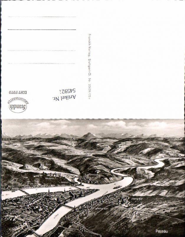 545921,Eugen Felle Druck Passau Stadt Vogelschau