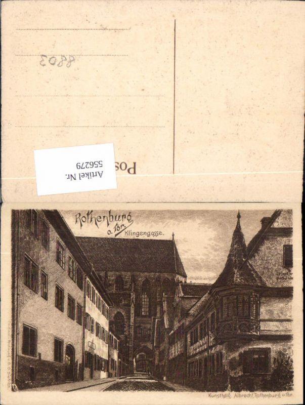 556279,Künstler AK Radierung G.O. Dietrich Rothenburg ob der Tauber