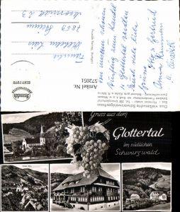 572051,Mehrbild Ak Glottertal Südl. Schwarzwald Wein Sanatorium Kirche Gasthaus z. Goldenen Engel