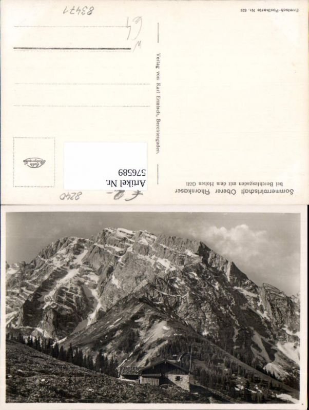 576589,Oberer Ahornkaser bei Berchtesgarden mit Hohen Göll