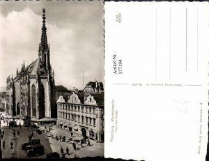 577194,Foto Ak Würzburg Marienkapelle Haus z. Falken