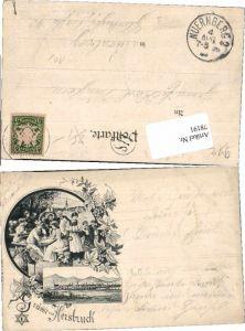 78191,Tolle Vorläufer Grüße aus Hersbruck 1895 ca.