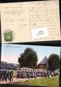 126809,Schappelzug im Schwarzwald Trachten Schwarzwälder Trachten Freudenstadt