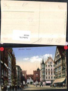 64104,München Karlstor Strassenansicht mit Personen