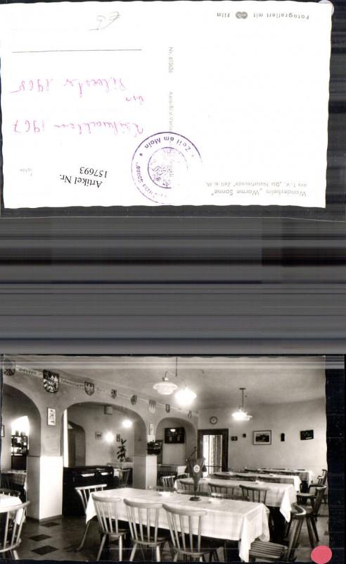 157693,Zeil a. Main Wanderheim Warme Sonne Innenansicht Speisesaal 1967