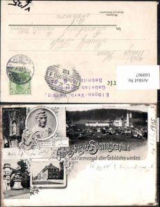 160967,Litho Gabelsberg Franz Xaver Gabelsberger Stenographie 1905 Ottobeuren Sebnitz Stempel