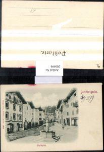 200496,Berchtesgaden Marktplatz Platz Brunnen Straßenansicht pub Stengel & Co 1305