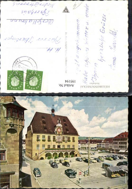195194,Heilbronn am Neckar Marktplatz Platz Parkplätze