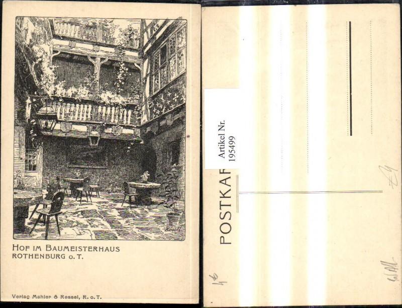 195499,Rothenburg ob der Tauber Hof im Baumeisterhaus Hof