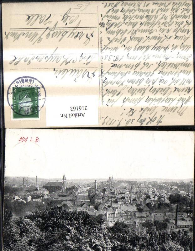 216162,Hof i. Bayern Hof a. d. Saale