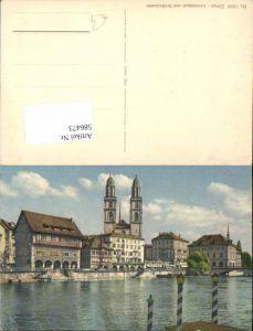 586473,Zürich Limmatquai Großmünster Münster
