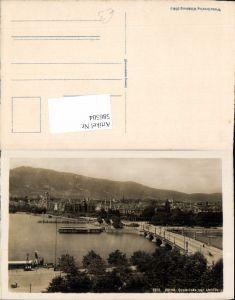 586504,Zürich Quaibrücke u. Vetliberg