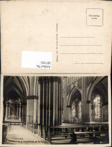 587195,Foto Ak Freiburg im Üechtland Fribourg Interieur de la Cathedrale de St Nicolas Switzerland