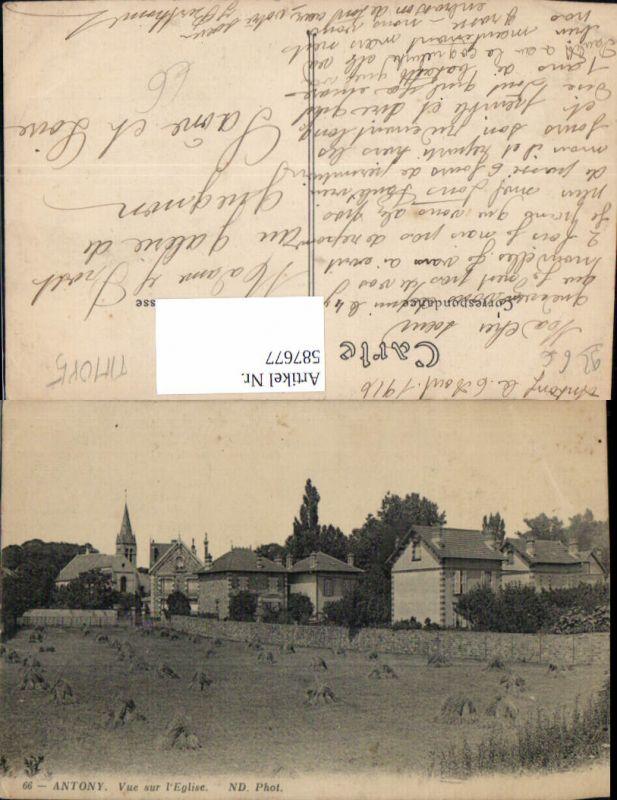 587677,Antony Vue sur l Eglise Kirche France