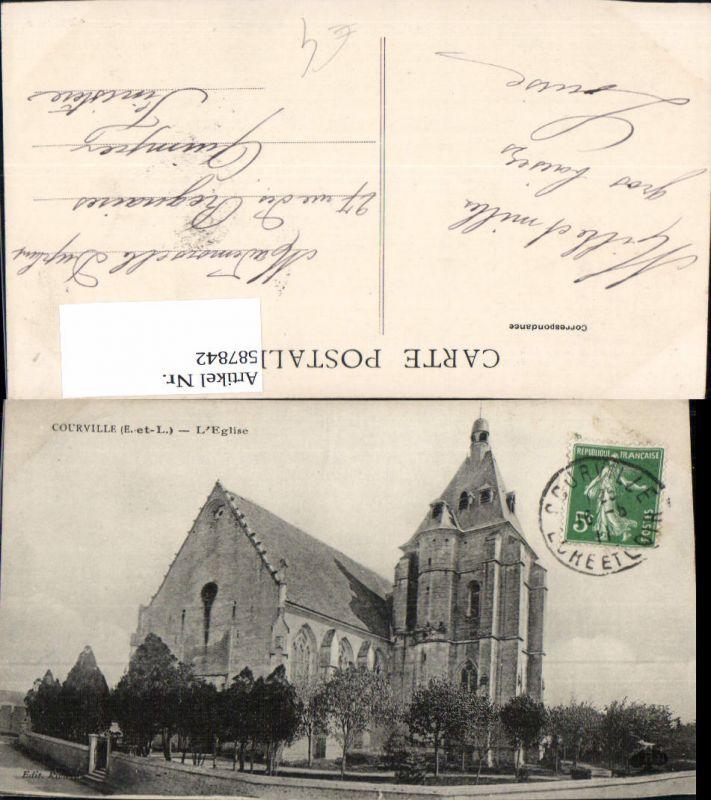 587842,Courville L Eglise Kirche France