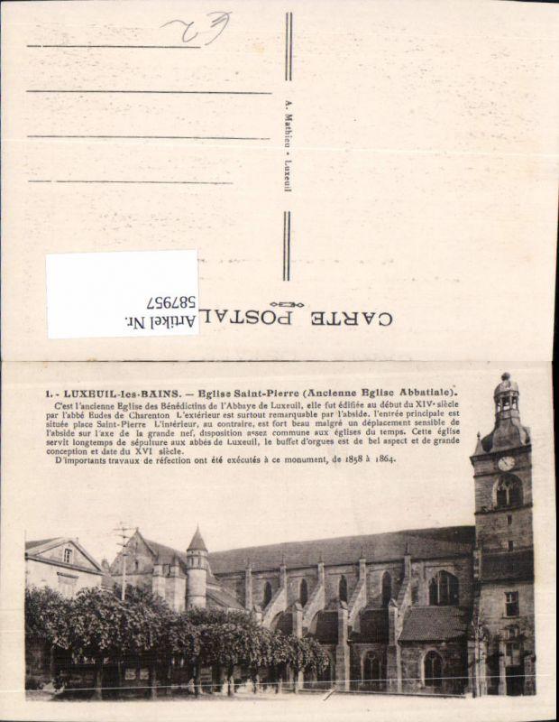 587957,Luxeuil-les-Bains Eglise Saint-Pierre Kirche France