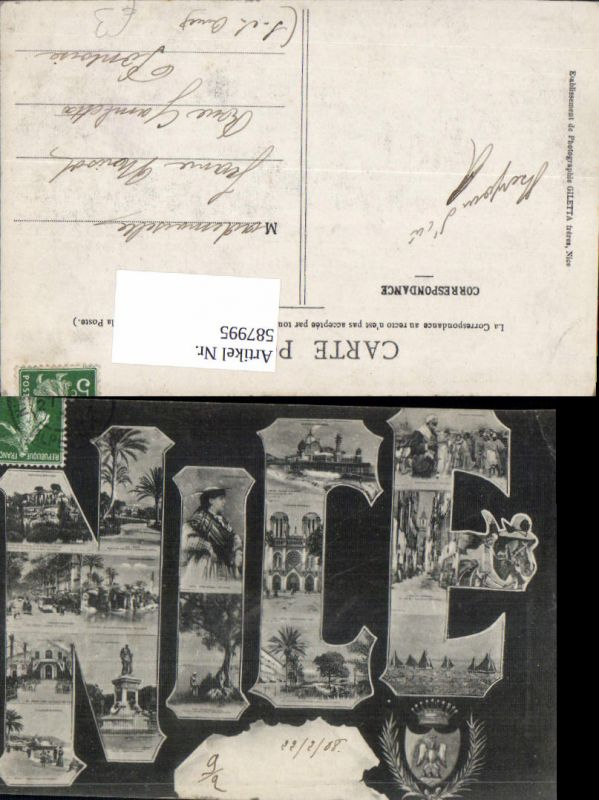 587995,Mehrbild Ak Nice Nizza 1908 France