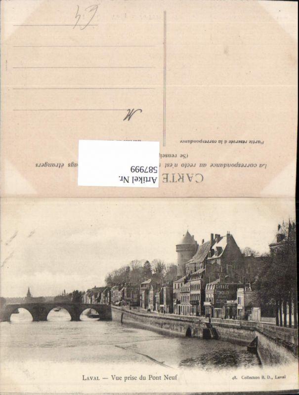 587999,Laval Vue prise du Pont Neuf Brücke France