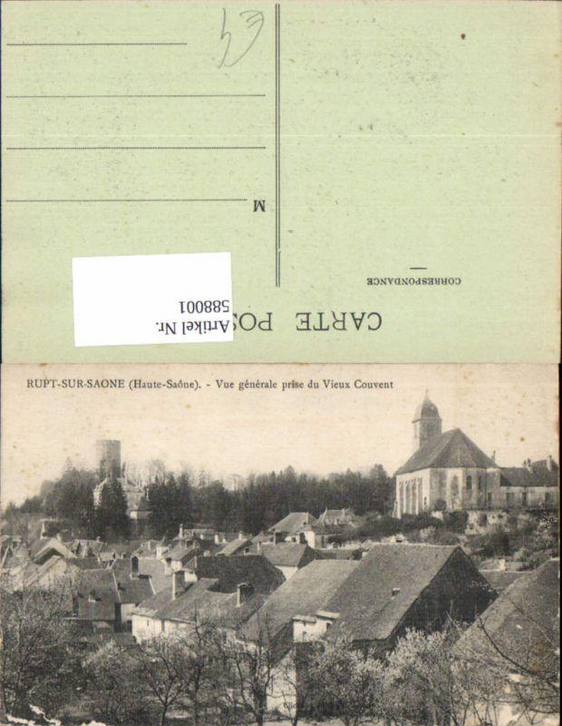 588001,Rupt-sur-Saone Haute Saone Vue generale prise du Vieux Couvent France