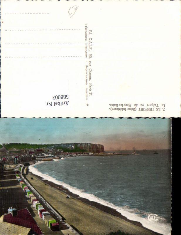 588002,Le Treport Seine-Infereure Le Treport vu de Mers-les-Bains Strand Küste France