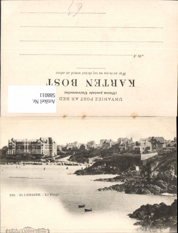 588011,St Lunaire La Plage Küste Boote France