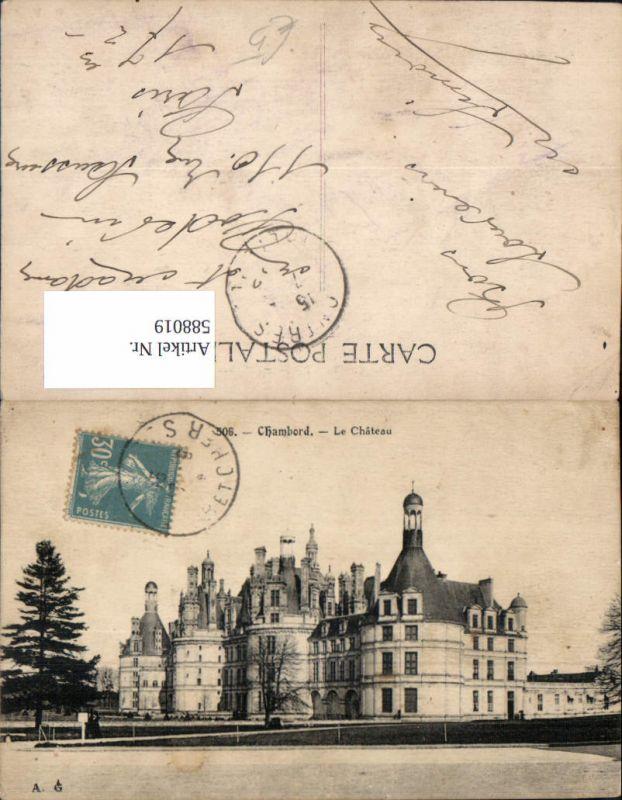 588019,Chambord Le Chateau Schloss France