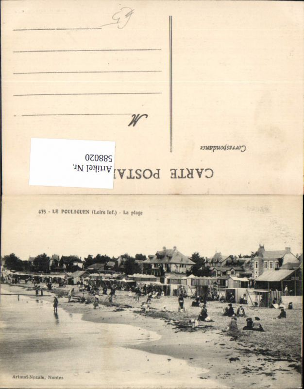 588020,Le Pouliguen Loire Inf. La plage Strand Strandleben France