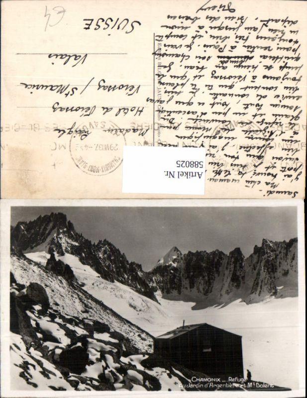 588025,Chamonix-Mont-Blanc Refuge du Jardin d Argentiere et Mont Dolerit France