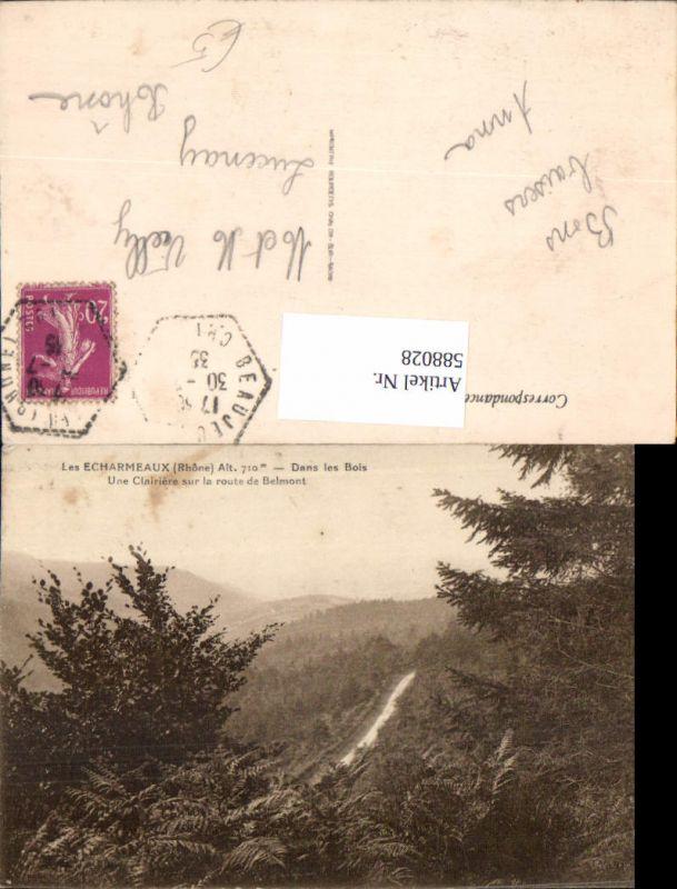 588028,Les Echarmeaux Rhone Dans les Bois Une Clairiere sur la route de Belmont France