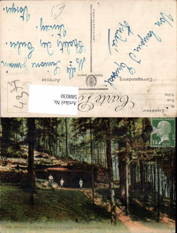 588030,Epinal Le Bois de la Vierge Les Rochers Gesteinsformation France