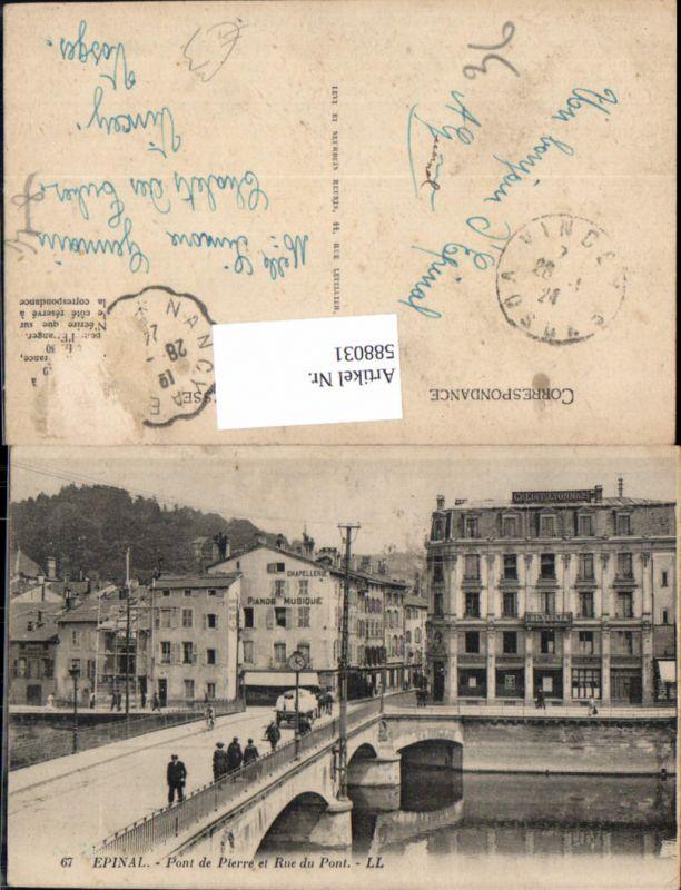 588031,Epinal Pont de Pierre et Rue du Pont Brücke France