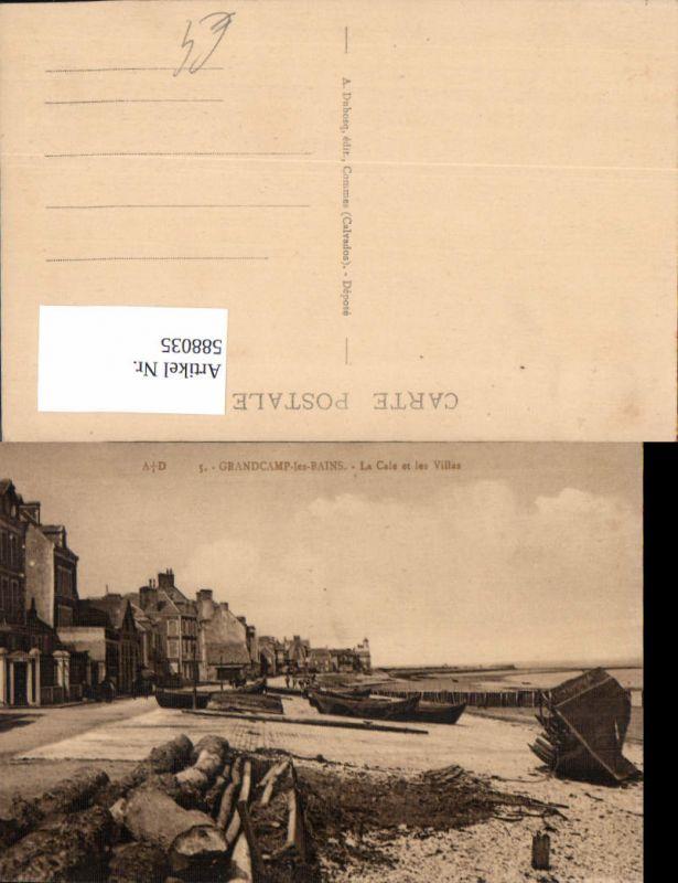 588035,Grandcamp-Maisy Grandcamp-les-Bains La Cale et les Villas Boote Strand France