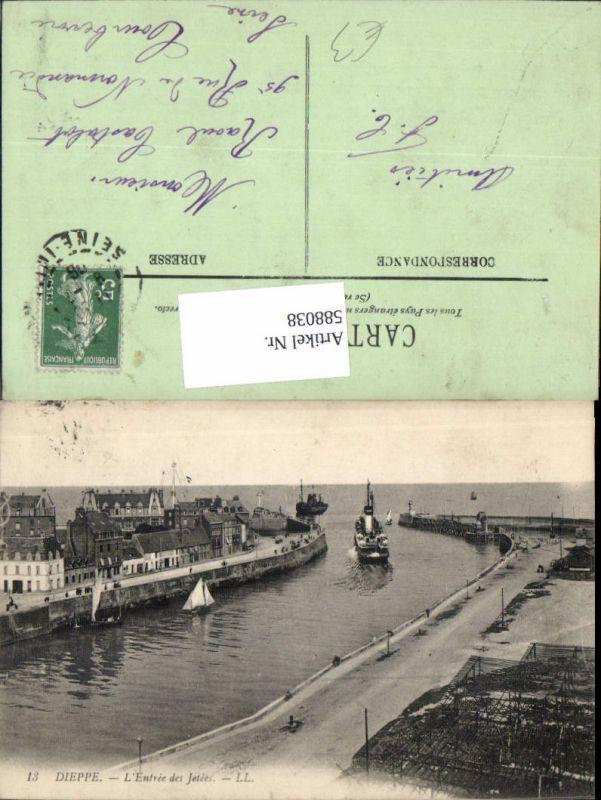 588038,Dieppe L Entree des Jetees Schiff Dampfer France