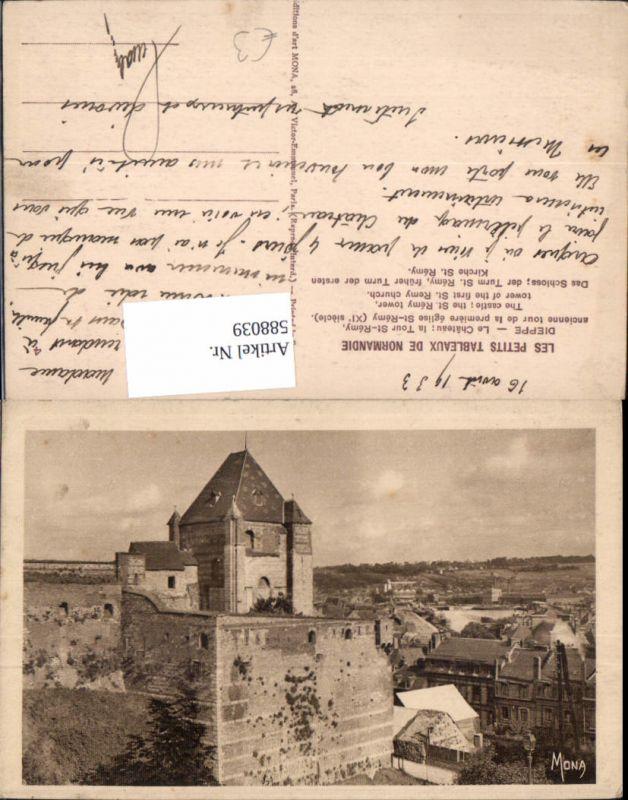 588039,Dieppe Le Chateau la Tour St Remy Schloss Turm France