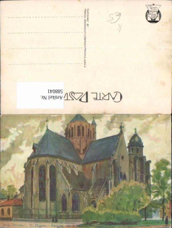 588041,Künstler Ak Dijon Abside de l Eglise Kirche France