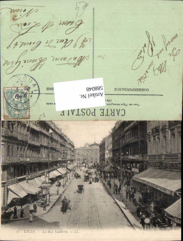 588048,Lille La Rue Faidherbe Litfaßsäule France