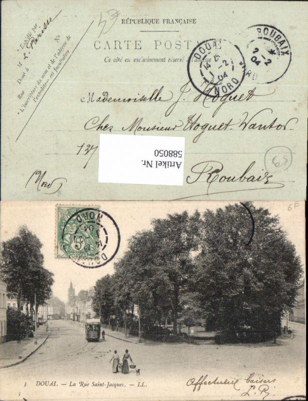 588050,Douai La Rue Saint-Jacques Straßenbahn France