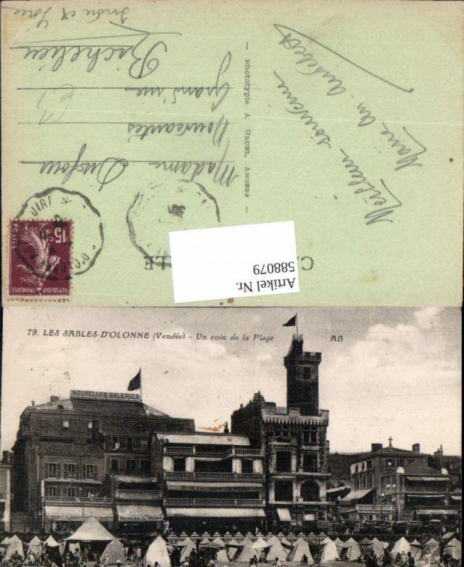 588079,Les Sables-D Olonne Vendee Un coin de la Plage Strand Strandleben France