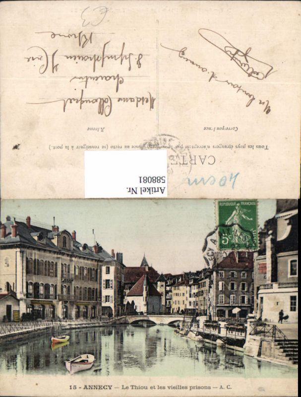 588081,Annecy Le Thiou et les vieilles prisons Brücke France