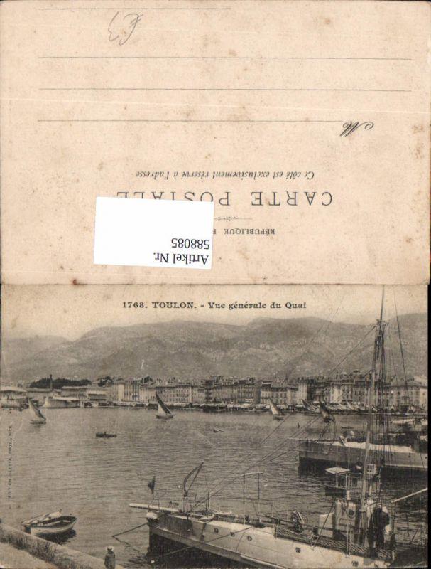 588085,Toulon Vue generale du Quai hafen Segelboot France