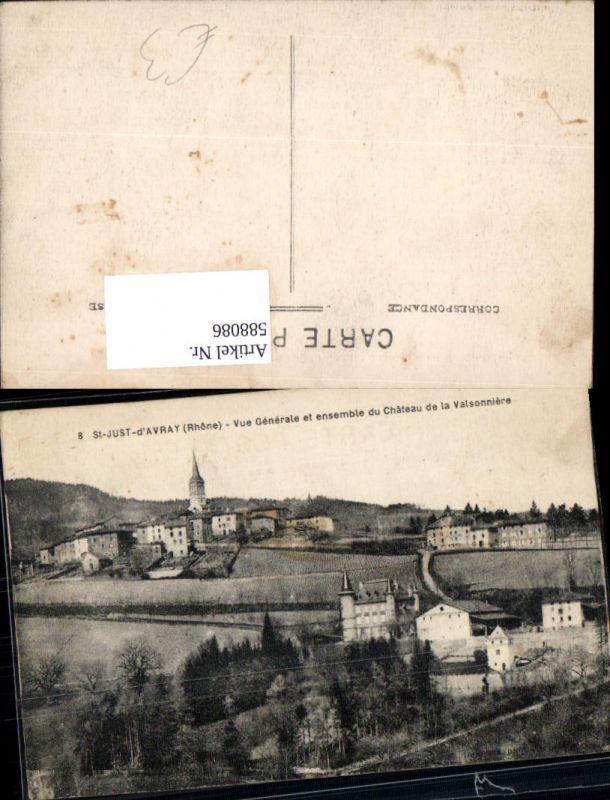 588086,St-Just-d Avray Rhone Vue Generale et ensemble du Chateau de la Valsonniere France