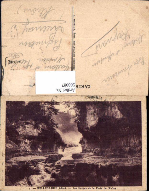 588087,Bellegarde Ain Les Gorges de la Perte du Rhone France